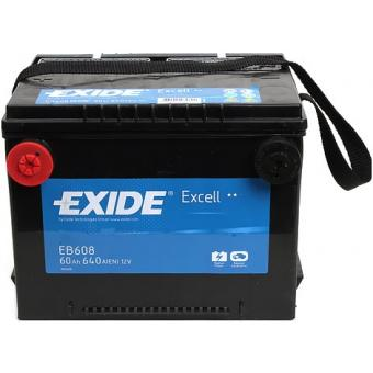 EB608, **АКБ Exide  US types 12V 60Ah  640EN  230x180x186 +/-